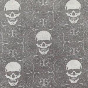 Grey Skulls face mask
